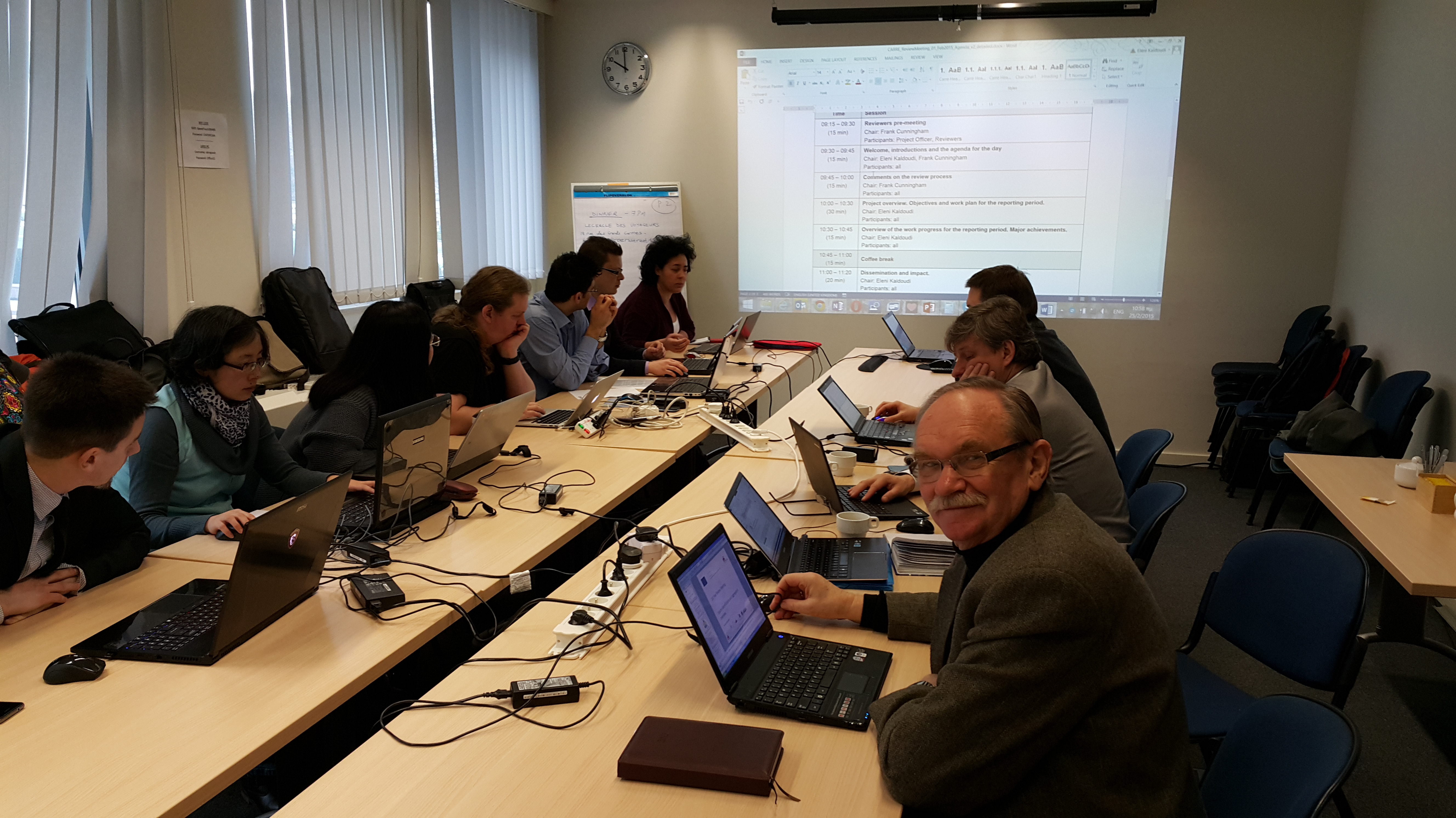 Review Meeting of 1st Year, Brussels – CARRE